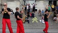 Deutscher Bundestag, Tag der Ein- und Ausblicke 2010, Musiker, Wegeleitung auf den Treppen