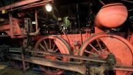 360 Grad Panorama auf Schienen Der Lokschuppen im...